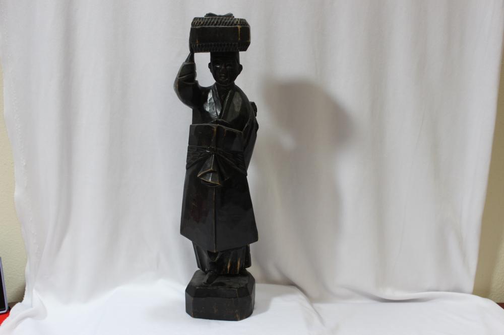 A Vintage Japanese Wooden Figure