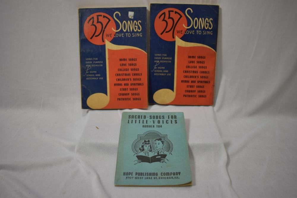Lot of 3 Song Books