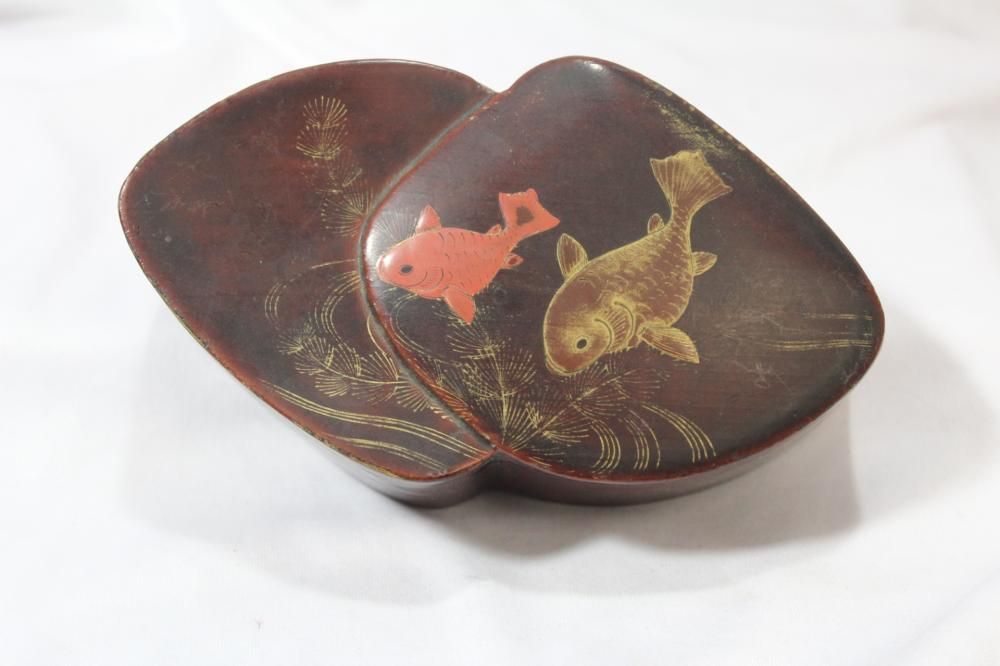 A Vintage Japanese Free Form Lacquer Box