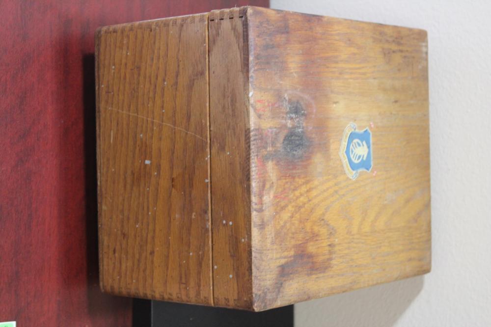 A Wooden Filing Box
