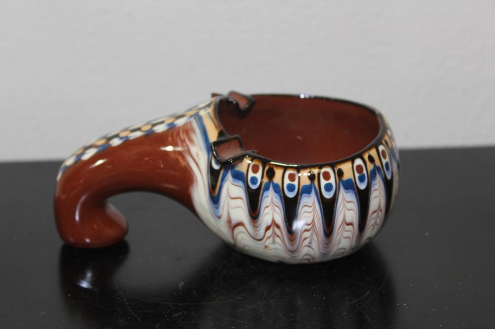 A Decorative Art Pottery Ashtray