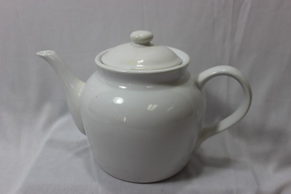 A White Ceramic Teapot