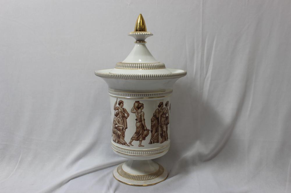 An Italian Ceramic Urn