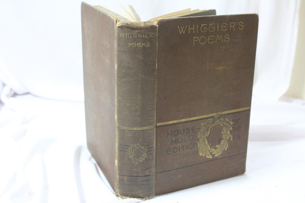 Whittier's Poems - Hardcover Book