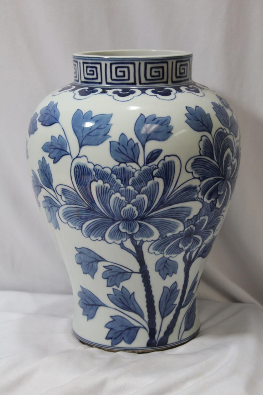 A Well Made Gumps Blue and White Vase