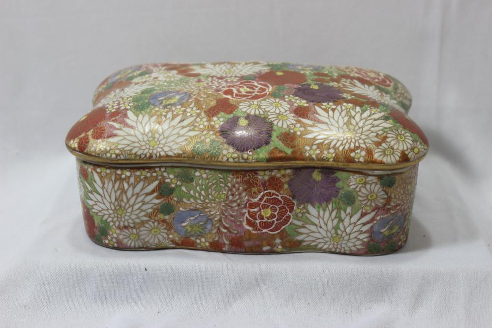 An Oriental Ceramic Box