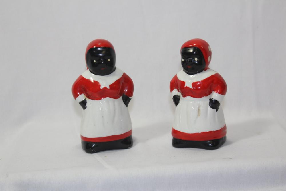 Black Mama Salt and Pepper Shakers
