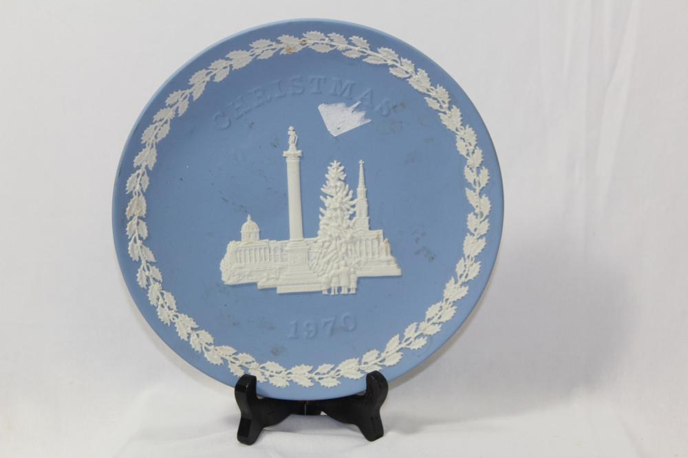 A Wedgwood Jasperware Christmas Plate - 1970
