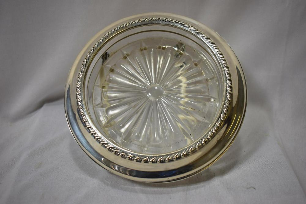 A Wallace Sterling Rim Coaster