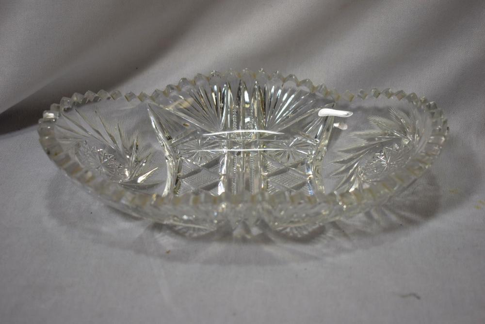 A Cut Glass Dish