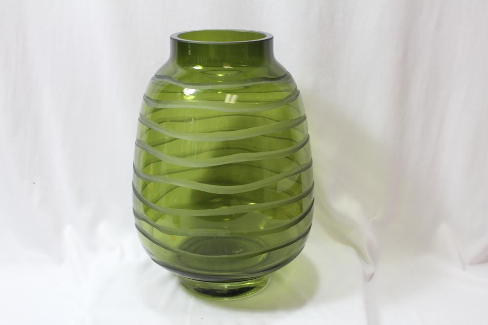 An Art Glass Green Vase