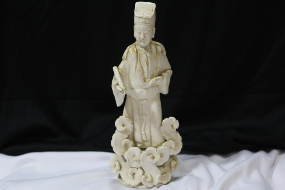 A Vintage Chinese Blanc de Chine Figurine