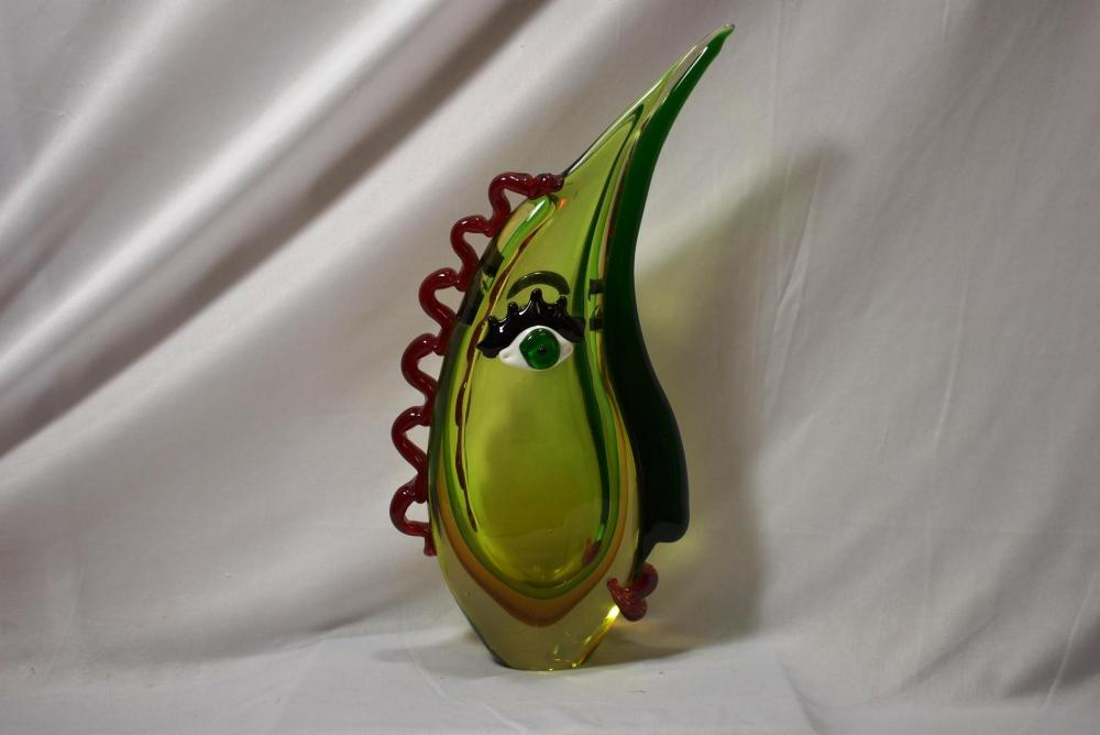 A Picasso Style Art Glass Vase