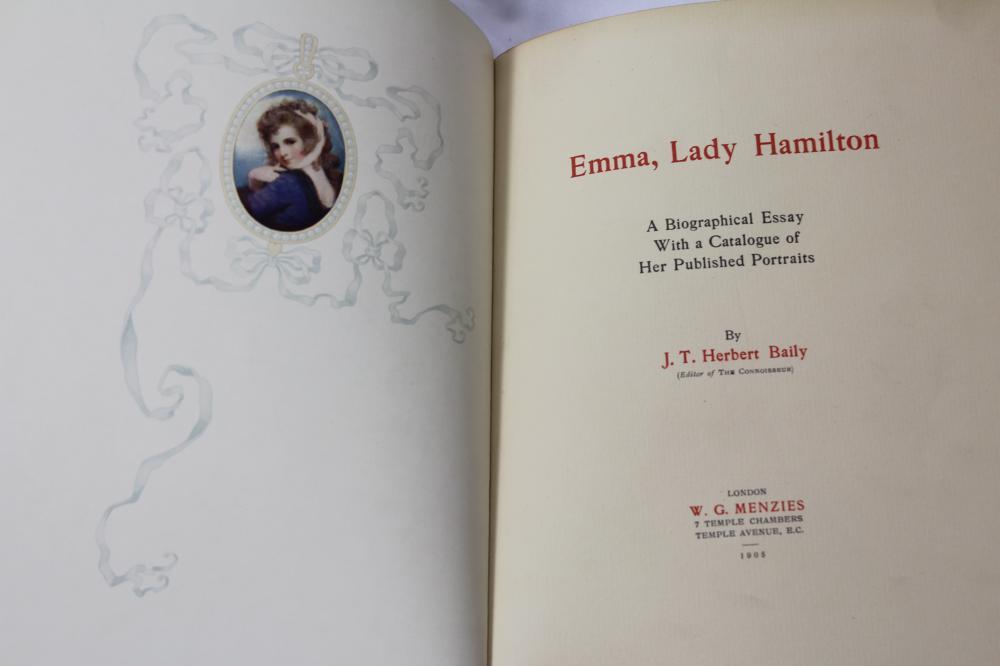 The Life of Emma, Lady Hamilton - Hardcover Book, 1905