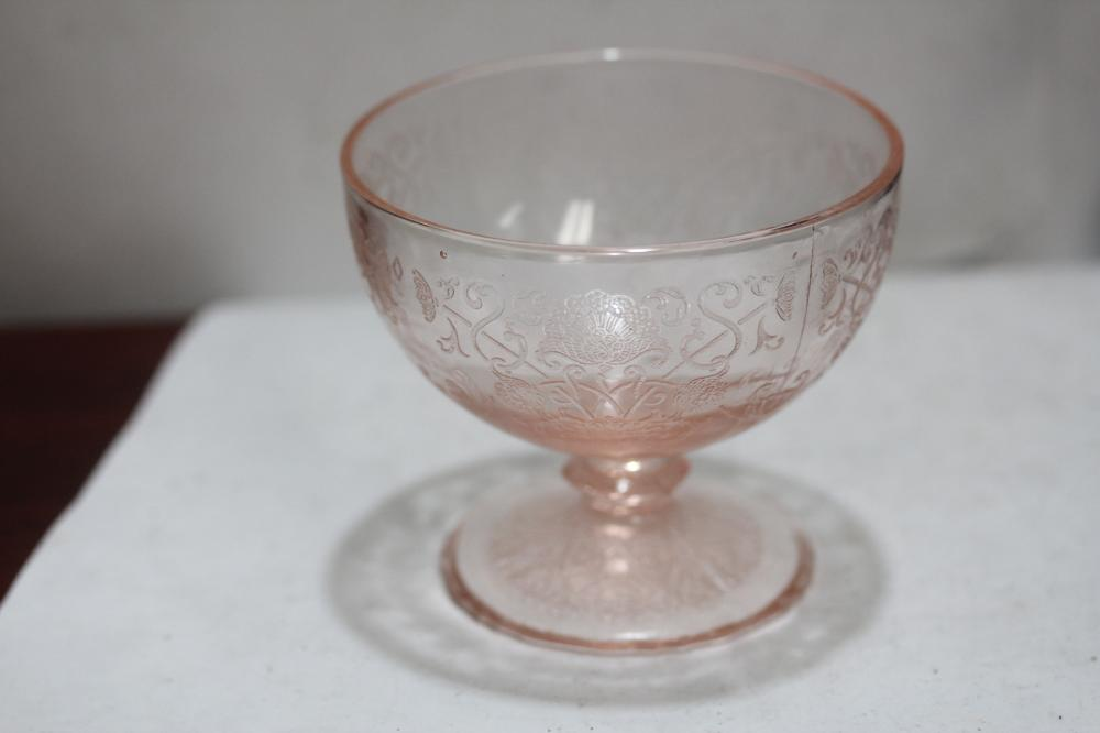A Pink Depression Glass
