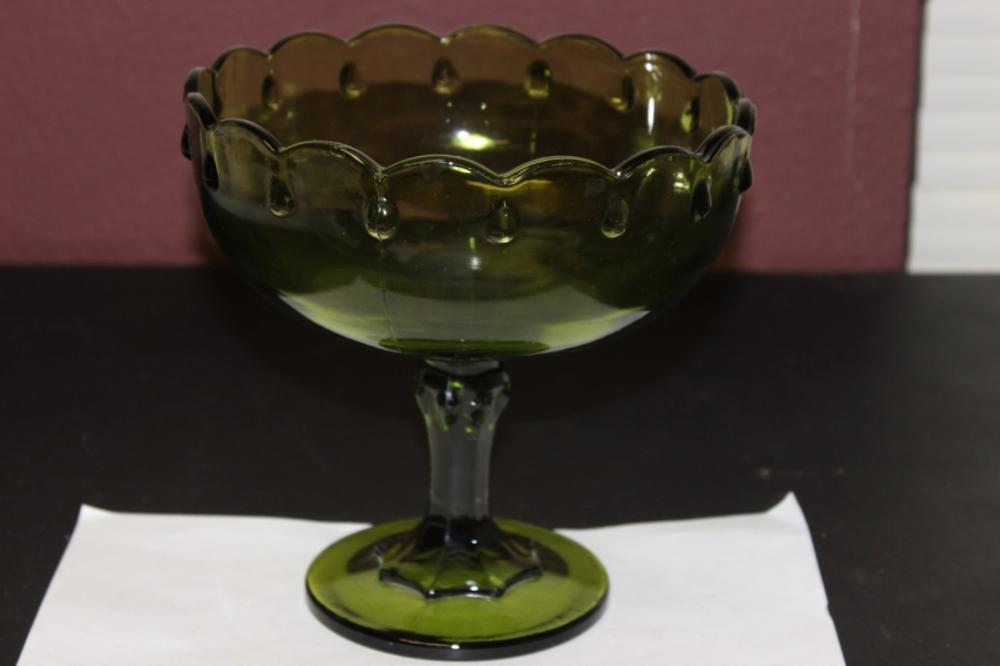 A Green Glass Compote
