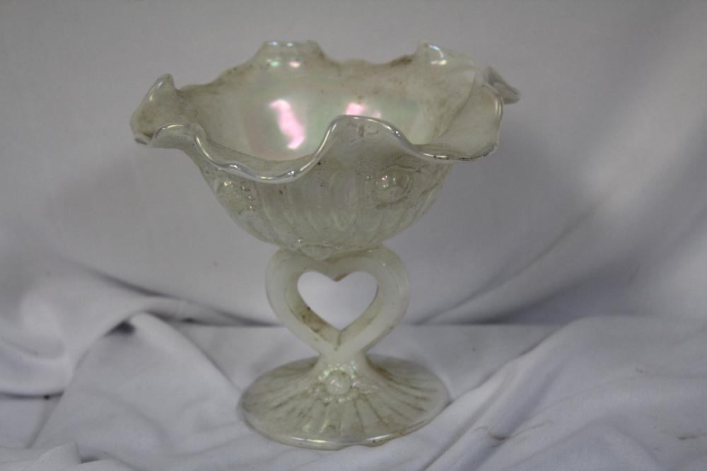A Luster Glass Compote