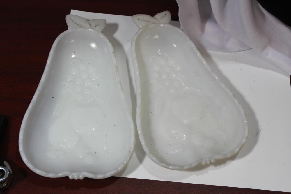Pair of Milk Glass Plates