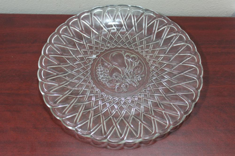 A Pressed Glass Platter