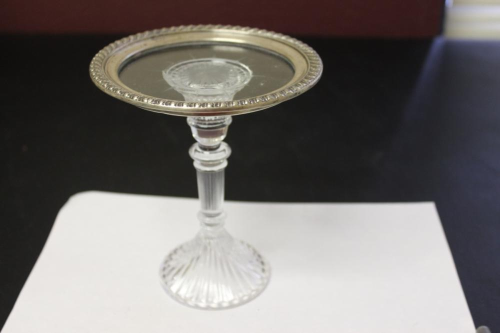 A Sterling Silver and Cut Glass Compote / Stand