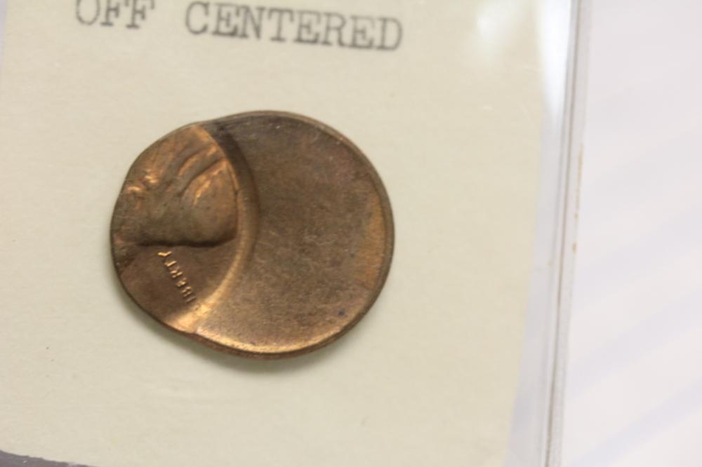 A Mint Error Off Center Lincoln Cent