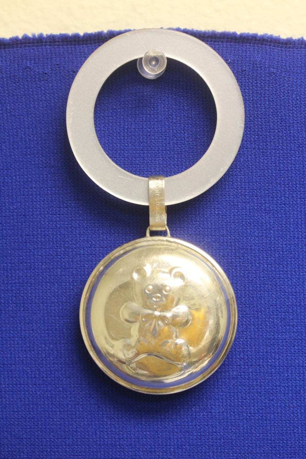 Lunt Sterling Mop and Sterling Baby Rattle