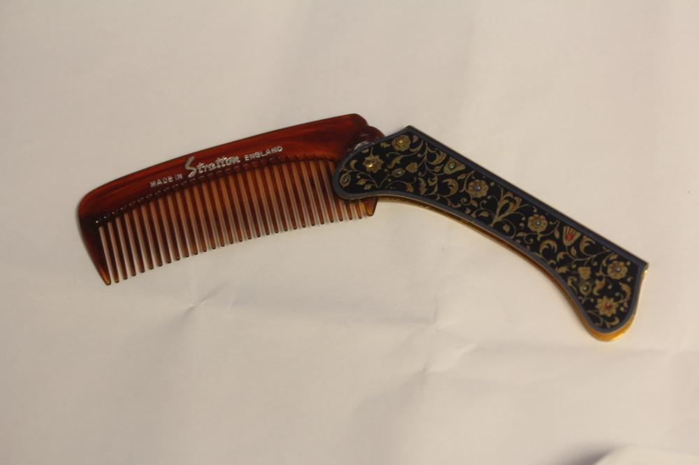 A Stratton Enamel and Lucite Comb