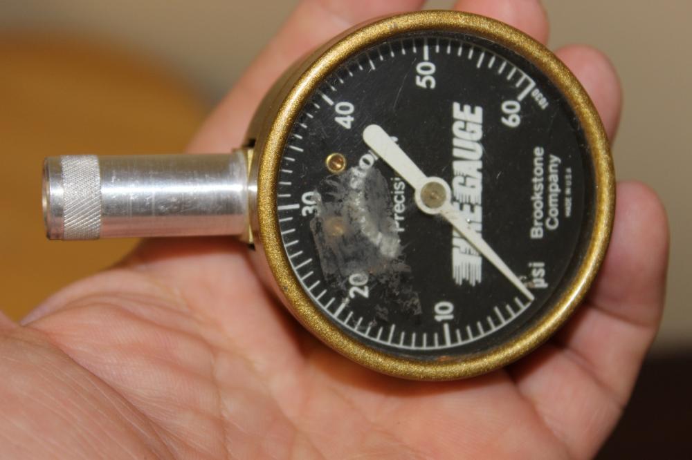 A Brookstone Company Tire Gauge