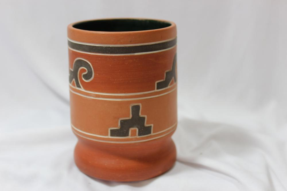 A Signed Mexican Pottery