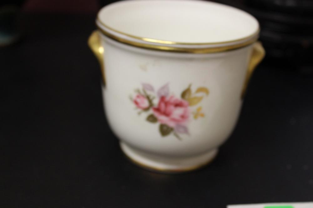 A Vintage Aynsley, English Gravy (?) Bowl With Golden Handle