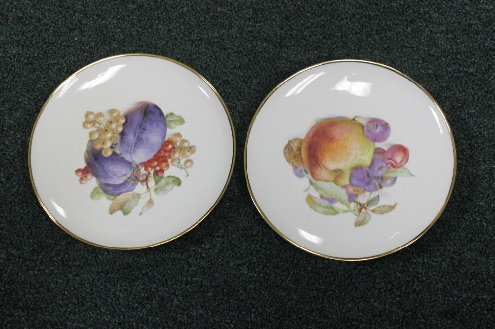 Lot of 2 Schumann Apzberg Germany Fruit Plates