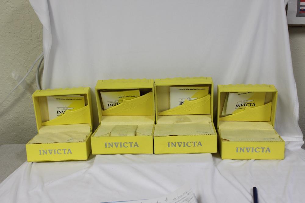 Empty Invicta Boxes