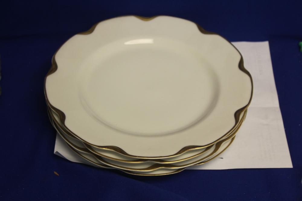 Set of 4 Haviland Limoges Dinner Plates
