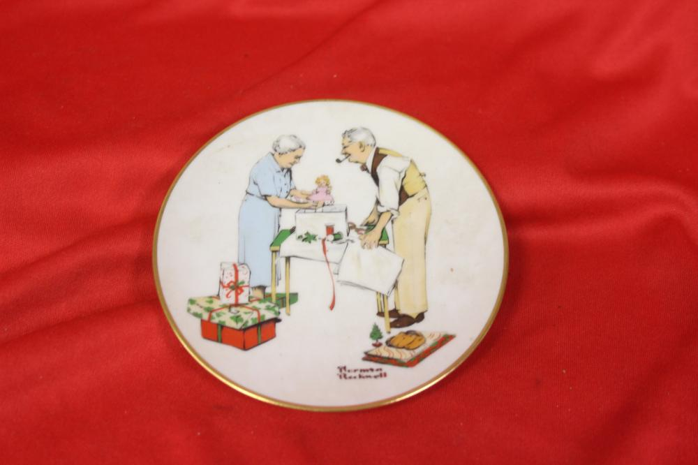 A Norman Rockwell Miniature Collector's Plate
