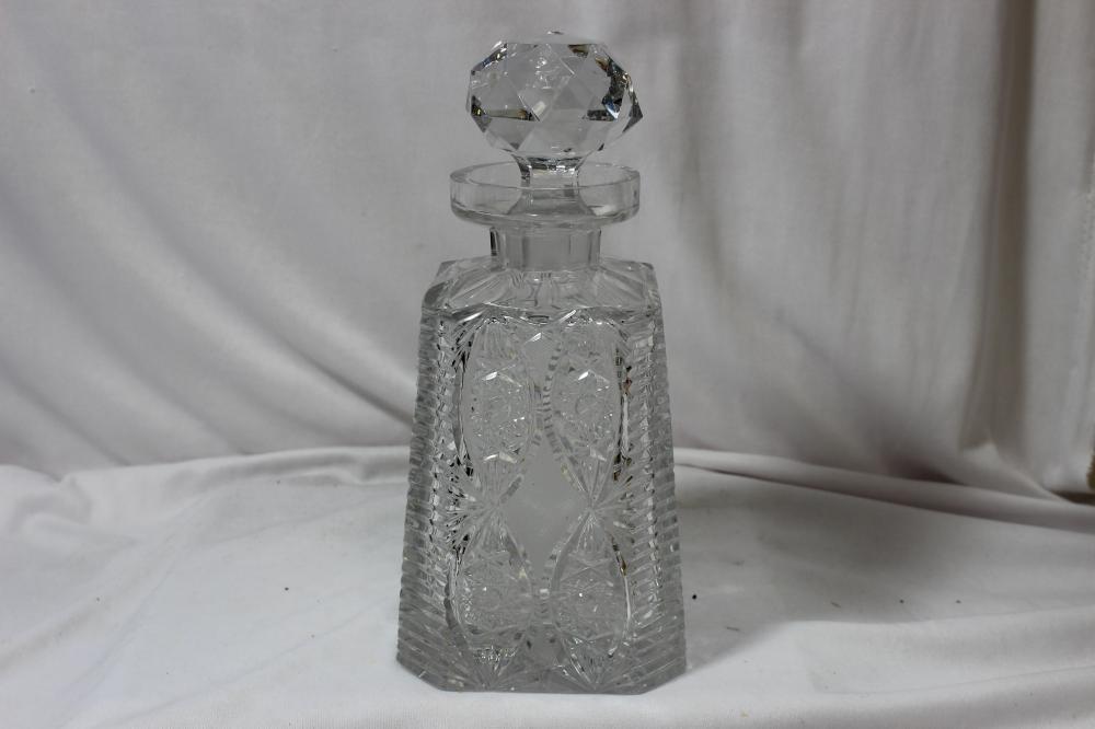 An American Brilliant Cut Glass Decanter