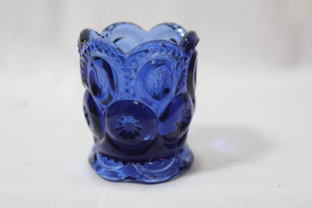 A Cobalt Blue Toothpick Holder