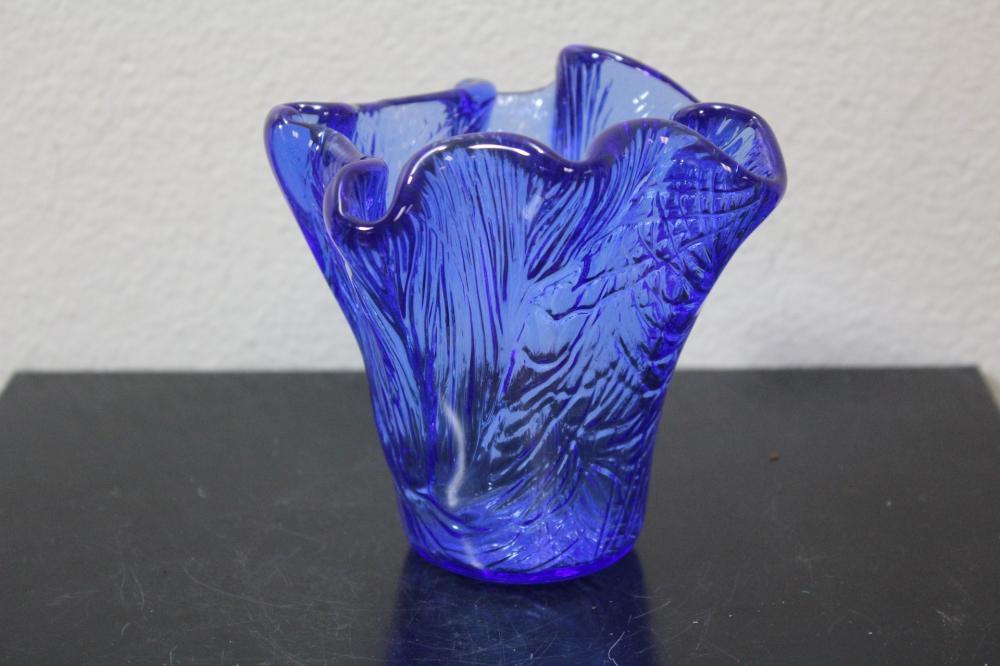 A Cobalt Blue Glass Vase