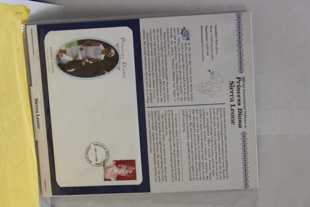 Lot of 2 Princess Diana Stamped Envelope
