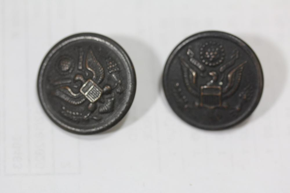 Lot of 2 1800's Military Buttons