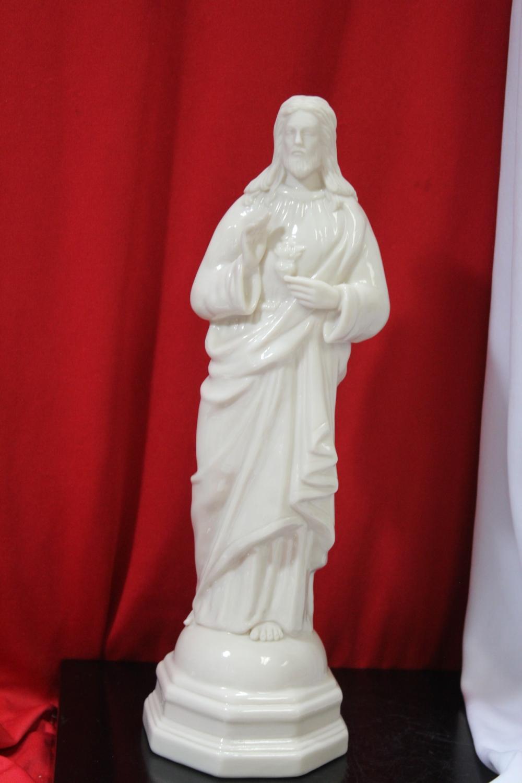 A Belleek Jesus Figurine