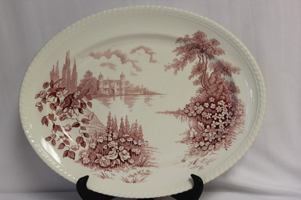 A Porcelain Johnson Bros Plate