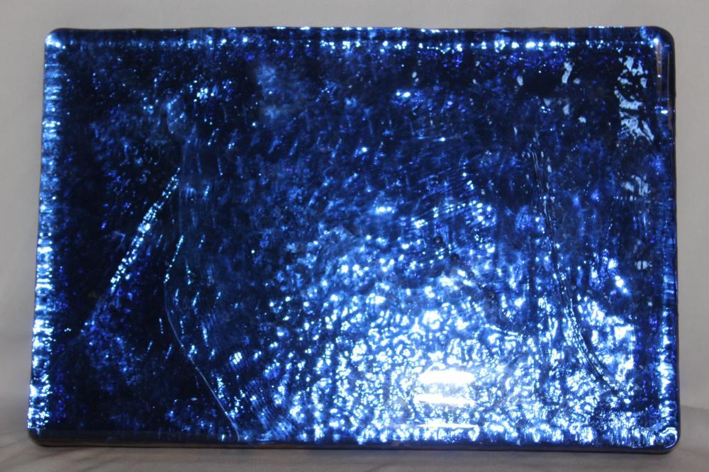 A Handmade Blenko Cobalt Blue Glass Block