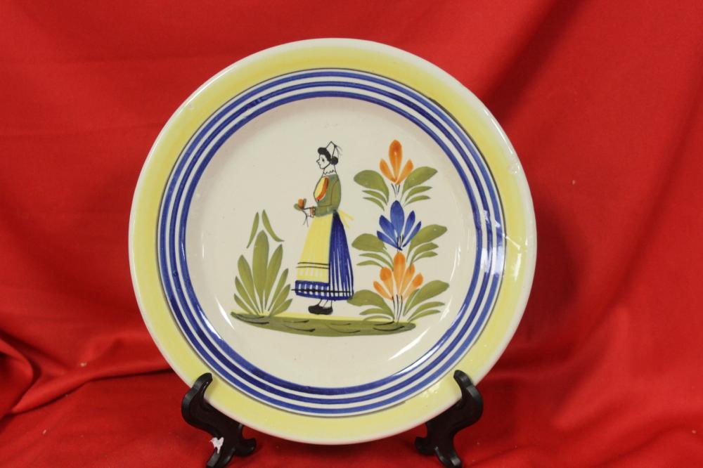 An Antique Hemriot Quimper Plate