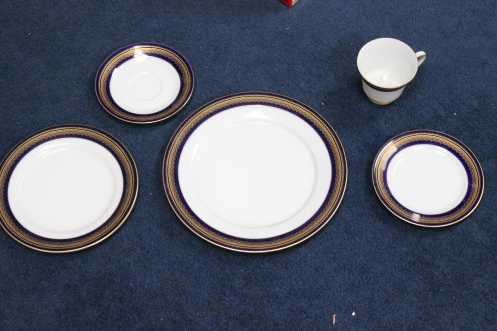 A Noritake Set of Dinner Plate, Salad Plate, Bread Plate, Cup and Saucer