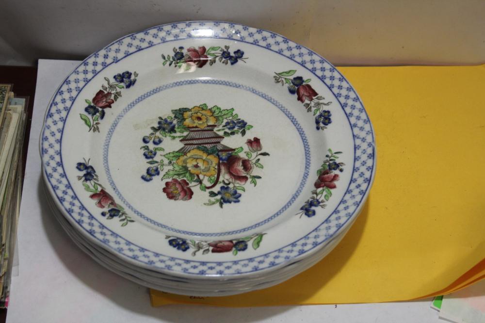 Set of 6 ceramic Spode Plates