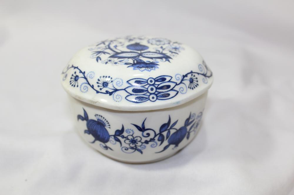A Blue and White Bone China Container