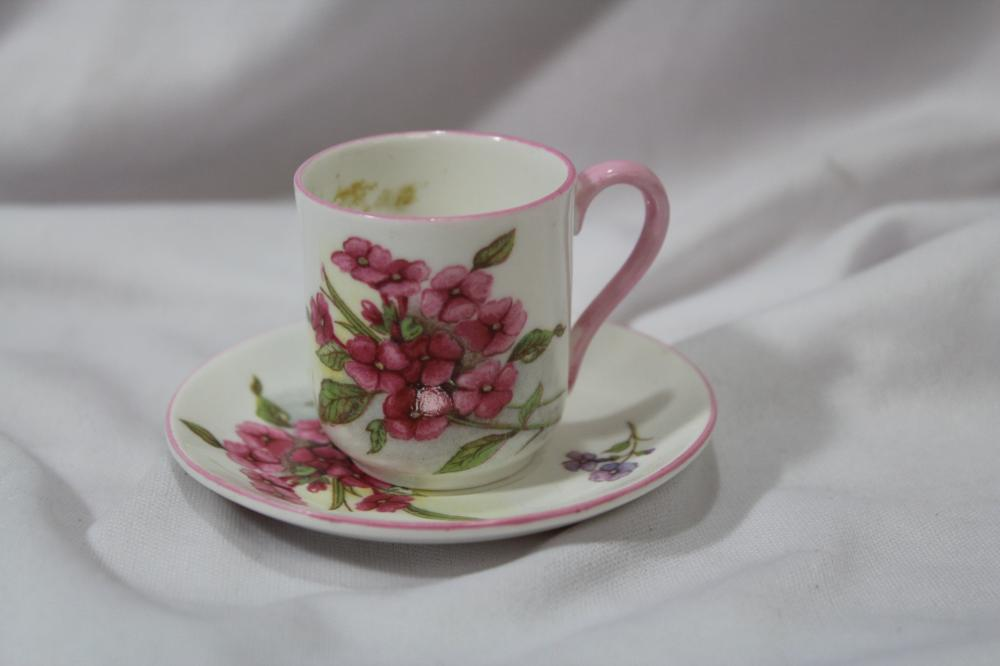 A Rare Miniature Shelley Cup and Saucer