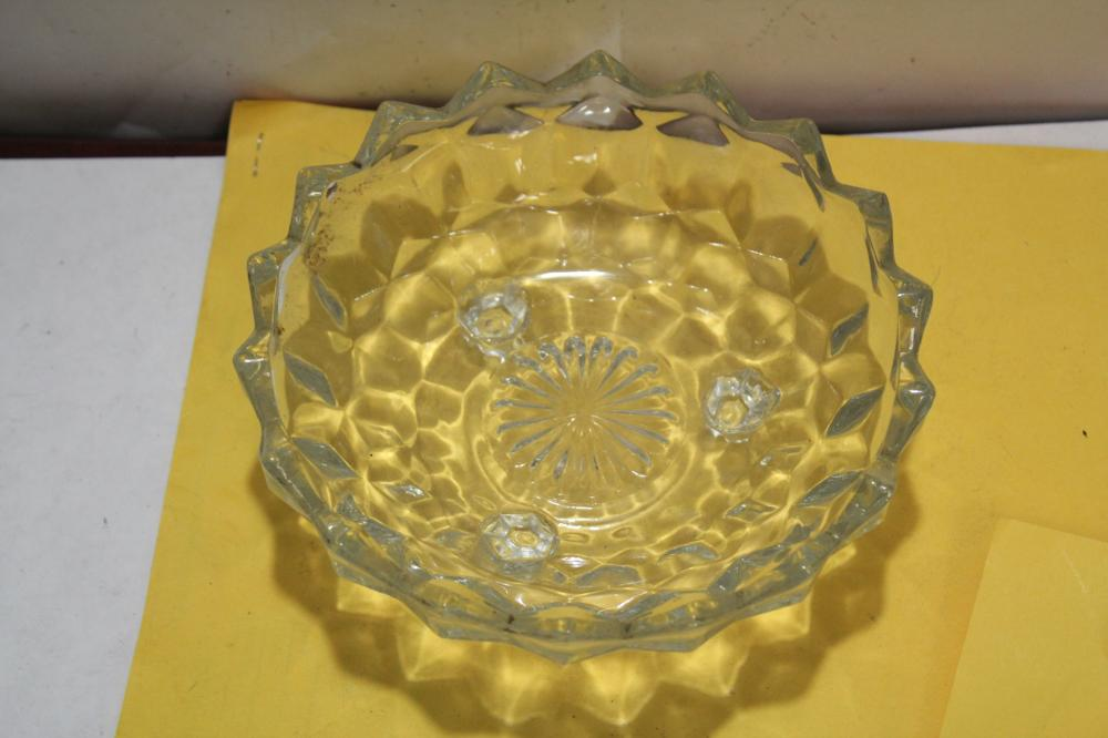 A Fostoria Footed Glass Bowl