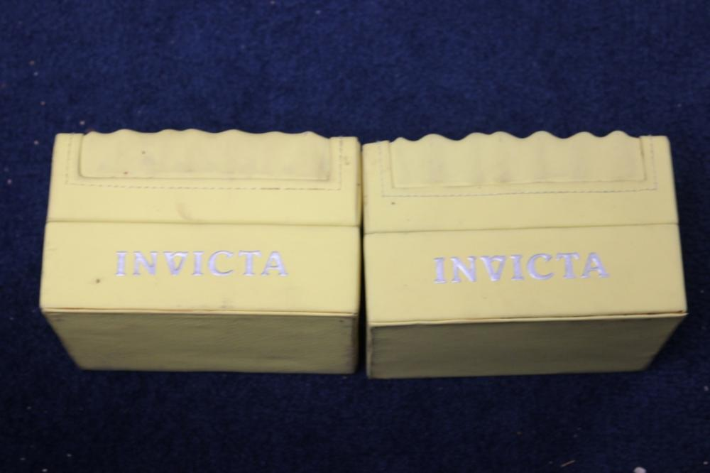 Lot of 2 Invicta Watch Boxes