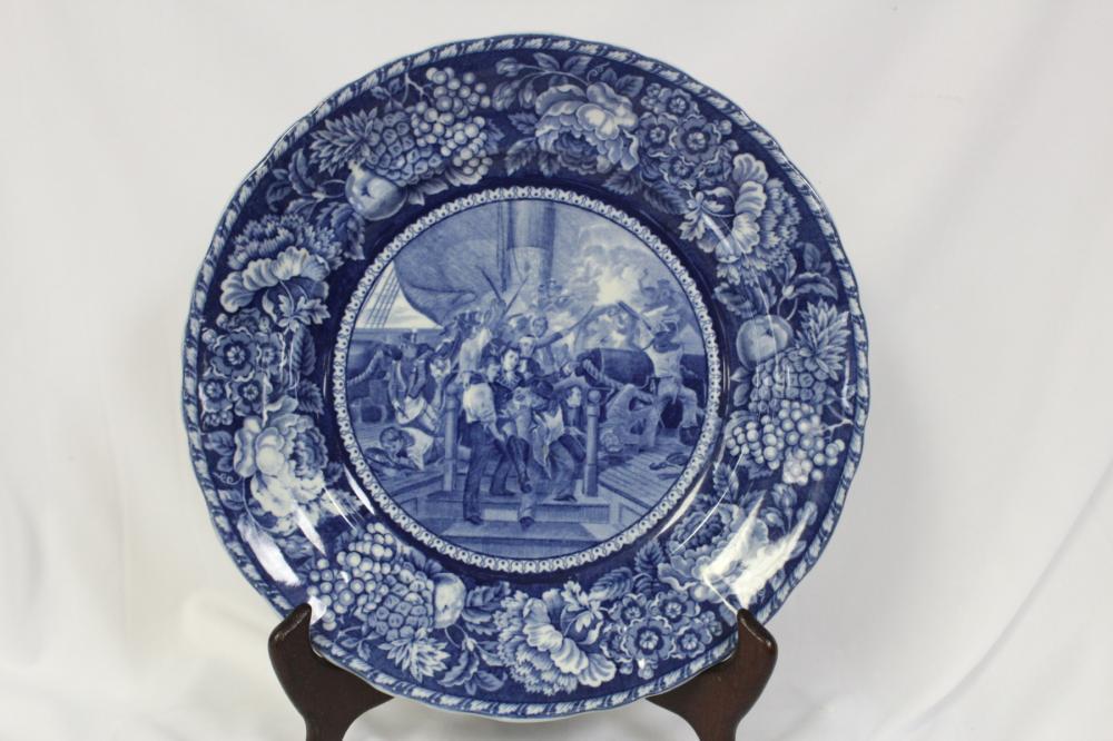 A Staffordhire Flow Blue Plate